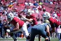 Stanford, Ca. - September 15, 2018: Stanford Cardinal Football ___ the UC Davis Aggies _-_ at Stanford Stadium.