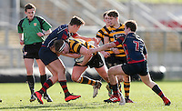 Monday 27th February 2017   ULSTER SCHOOLS CUP SEMI-FINAL<br /> <br /> Dermot Wallace during the Ulster Schools Cup Semi-Final between RBAI and Ballymena Academy  at Kingspan Stadium, Ravenhill Park, Belfast, Northern Ireland. <br /> <br /> Photograph by John Dickson   www.dicksondigital.com