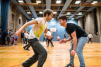 UK. Birmingham. 27th  October 2015<br /> Lions players at an indoor training session.<br /> Andrew Testa for  the New York Times