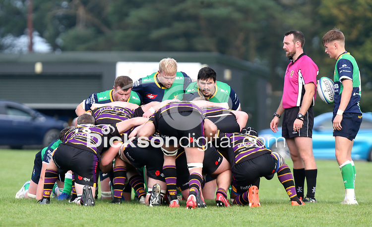 Saturday 25th September 2021<br /> <br /> Ruairi Maharg during the Ulster Conference League clash between Ballynahinch 2s and Instonians at Ballymacarn Park, Ballynahinch, County Down, Northern Ireland. Photo by John Dickson/Dicksondigital