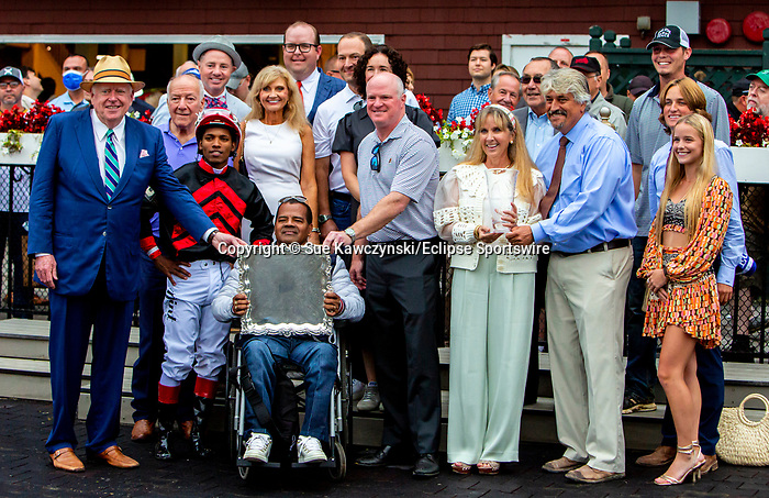 SEPT 05, 2021: Echo Zulu, #3, ridden by Ricardo Santana Jr., wins the Gr.1 Spinaway Stakes, for 2-year old fillies, going 7 furlongs, at Saratoga Racecourse, Saratoga Springs, New York. Sue Kawczynski/Eclipse Sportswire/CSM