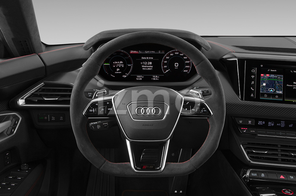 Car pictures of steering wheel view of a 2021 Audi e-tron-GT RS 4 Door Sedan Steering Wheel