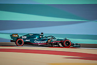 18 STROLL Lance (can), Aston Martin F1 AMR21, action during Formula 1 Gulf Air Bahrain Grand Prix 2021 from March 26 to 28, 2021 on the Bahrain International Circuit, in Sakhir, Bahrain <br /> 26/03/2021 <br /> Formula 1 Gp Bahrein <br /> Photo DPPI/Panoramic/Insidefoto <br /> Italy Only <br /> 26/03/2021 <br /> Formula 1 Gp Bahrein <br /> Photo DPPI/Panoramic/Insidefoto <br /> Italy Only