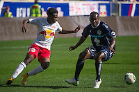 HARRISON, PA - Sunday April 12, 2015: The New York Red Bulls II lose 3-0 to the Wilmington Hammerheads at home in Red Bull Arena in the USL regular season.  NYRB II is the second team for the New York Red Bulls, while the Wilmington Hammerheads have an affiliation with New York City FC.