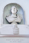 John Fuller of Brightling, Sussex 1757-1834. Bust of John Fuller in Brightling Church by Sir Francis Chantry sculptured in 1819. Interior St Thomas a Becket church.
