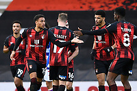 Arnaut Danjuma of AFC Bournemouth left celebrates with Jefferson Lerma of AFC Bournemouth after scoring to make the score 2-2- during AFC Bournemouth vs Reading, Sky Bet EFL Championship Football at the Vitality Stadium on 21st November 2020