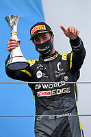 11th October 2020, Nuerburgring, Nuerburg, Germany; FIA Formula 1 Eifel Grand Prix, Race Day;  3 Daniel Ricciardo AUS, Renault DP World F1 Team celebrates his 3rd placed finish