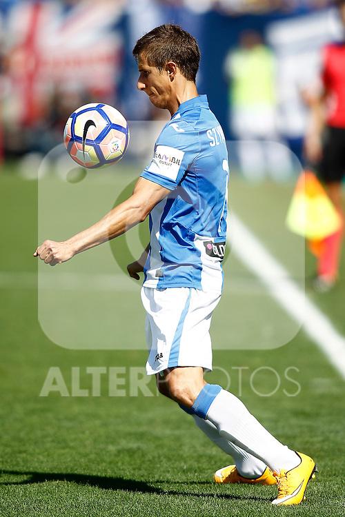 CD Leganes' Alexander Szymanowski during La Liga match. September 25,2016. (ALTERPHOTOS/Acero)