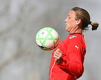 Abby Wambach during Washington Freedom  practice and media event at the Maryland Soccerplex on March 25 in Boyd's, Maryland.