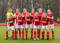 Standard players poses for team photo before a female soccer game between Standard Femina de Liege and RSC Anderlecht on the 9th matchday of the 2020 - 2021 season of Belgian Scooore Womens Super League , saturday 12 th of December 2020  in Angleur , Belgium . PHOTO SPORTPIX.BE   SPP   SEVIL OKTEM