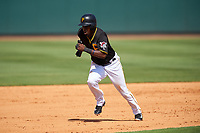 Pittsburgh Pirates Eury Perez (27) runs the bases during a Spring Training game against the Tampa Bay Rays on March 10, 2017 at LECOM Park in Bradenton, Florida.  Pittsburgh defeated New York 4-1.  (Mike Janes/Four Seam Images)
