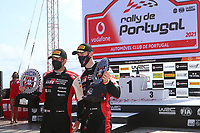 23rd May 2021; Felgueiras, Porto, Portugal; WRC Rally of Portugal, stages SS16-SS20;  Elfyn Evans and co-driver Scott Martin -Toyota Yaris WRC wins the Rally