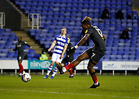 10th February 2021; Madejski Stadium, Reading, Berkshire, England; English Football League Championship Football, Reading versus Brentford; Ivan Toney of Brentford shoots and scores his sides 3rd goal in the 88th minute to make it 3-1