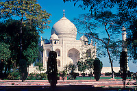 Taj Mahal, 17th C mausoleum by Shah Jahan, Agra