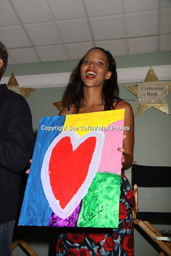 All My Children Denise Vasi at A Night of Stars on May 14 at Bistro Soleil, Olde Marco Inn, Marco Island, Florida - SWFL Soapfest Charity Weekend May 14 & !5, 2011 benefitting several children's charities including the Eimerman Center providing educational & outfeach services for children for autism. see www.autismspeaks.org. (Photo by Sue Coflin/Max Photos)