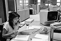 - impiegati degli uffici IBM di Santa Palomba (Roma, maggio 1984)<br /> <br /> - IBM employees in the Santa Palomba offices (Rome, May 1984)