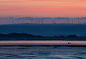 27/05/15<br /> <br /> Seen from the Northam Burrows, a small fishing boat heads out to sea as the sun rises over the estuary off Appledore, North Devon.<br /> <br /> All Rights Reserved - F Stop Press.  www.fstoppress.com. Tel: +44 (0)1335 418629 +44(0)7765 242650