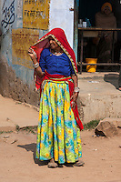 Abhaneri, Rajasthan, India.  Woman in Traditional Dress.
