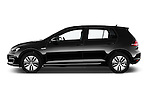 Car Driver side profile view of a 2015 Volkswagen GOLF e-Golf 5 Door Hatchback 2WD Side View