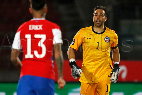 13th November 2020; National Stadium of Santiago, Santiago, Chile; World Cup 2020 Football qualification, Chile versus Peru;  Claudio Bravo of Chile