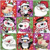 Interlitho, CHRISTMAS SANTA, SNOWMAN, WEIHNACHTSMÄNNER, SCHNEEMÄNNER, PAPÁ NOEL, MUÑECOS DE NIEVE, paintings+++++,9xsantas,snowmen,KL6012,#x# napkins stickers