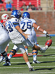 Memphis Tigers punter TOM HORNSEY (43) in action during the game between the Memphis Tigers and the Southern Methodist Mustangs at the Gerald J. Ford Stadium in Dallas, Texas. Memphis defeats SMU 48 to 3...