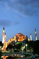 The exterior of the Hagia Sophia, Istanbul, Turkey