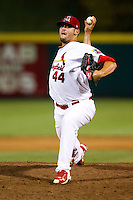 David Kopp (44) of the Springfield Cardinals delivers a pitch during a game against the Tulsa Drillers at Hammons Field on July 18, 2011 in Springfield, Missouri. Tulsa defeated Springfield 13-8. (David Welker / Four Seam Images)