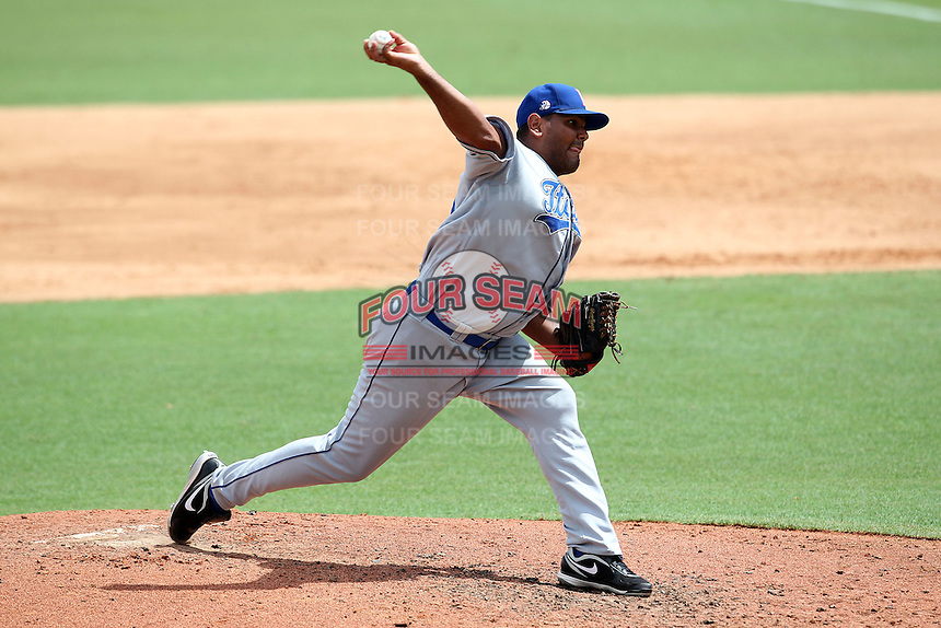 Italy National Team pitcher Yovani D'Amico #42 during an Instructional League game against the Florida Marlins at Roger Dean Stadium on September 27, 2011 in Jupiter, Florida.  (Mike Janes/Four Seam Images)