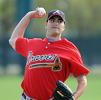17 March 2009: RHP James Parr of the Atlanta Braves at Spring Training camp at Disney's Wide World of Sports in Lake Buena Vista, Fla. Photo by:  Tom Priddy/Four Seam Images