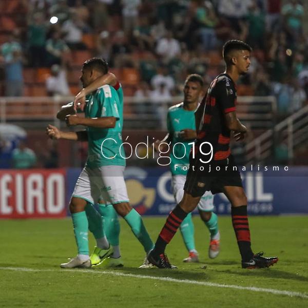 São Paulo (SP), 29/01/2020 - Palmeiras-Oeste - Gustavo Scarpa, do Palmeiras comemora seu gol, em partida contra o Oeste, válida pela 03ª rodada do Campeonato Paulista, no estádio do Pacaembú, em São Paulo (SP), nesta quarta-feira (29).