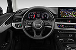 Car pictures of steering wheel view of a 2020 Audi A4-Allord Base 5 Door Wagon