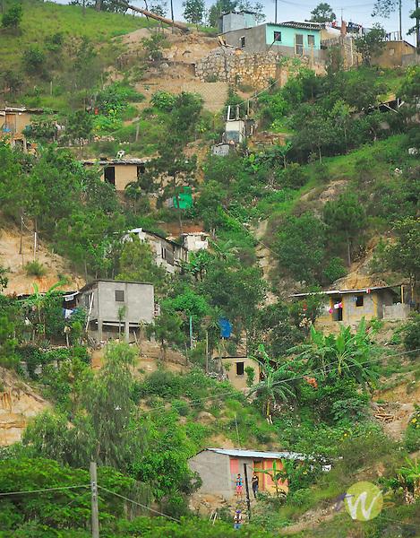 Village near Tegucigalpa. Hillside houses.
