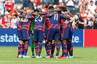 KANSAS CITY, KS - JULY 18: USMNT during a game between Canada and USMNT at Children's Mercy Park on July 18, 2021 in Kansas City, Kansas.