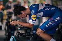 Niki Terpstra (NED/Quick-Step Floors) warming up<br /> <br /> Stage 20 (ITT): Saint-Pée-sur-Nivelle >  Espelette (31km)<br /> <br /> 105th Tour de France 2018<br /> ©kramon