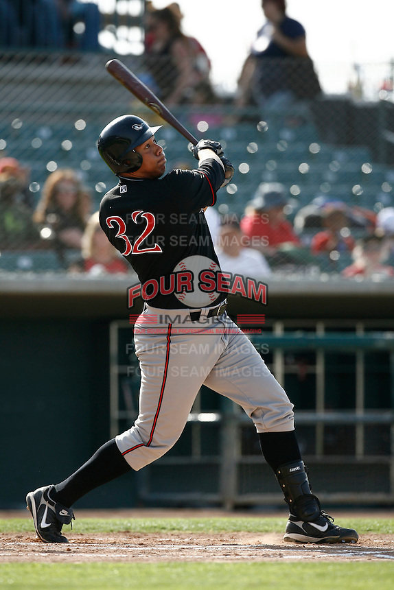 May 19  2007: Kyle Blanks of the Lake Elsinore Storm bats against the Lancaster JetHawks at Clear Channel Stadium in Lancaster,CA.  Photo by Larry Goren/Four Seam Images