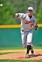 15 July 2010: Aberdeen IronBirds' pitcher T.R. Keating in rehab work against the Vermont Lake Monsters at Centennial Field in Burlington, Vermont. The Lake Monsters rallied in the bottom of the 9th inning to defeat the IronBirds 7-6 notching their league leading 20th win of the 2010 NY Penn League season. Mandatory Credit: Ed Wolfstein Photo