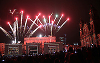 BOGOTA -COLOMBIA , 16- DICIEMBRE-2016. Espectáculo Fiesta de las Luces de Lyon que dan inicio a la novena de Navidad para los católicos colombianos. Photo: VizzorImage / Felipe Caicedo / Staff