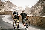 Mechanical for Damien Gaudin (FRA) Direct Energie during Stage 6 of the 10th Tour of Oman 2019, running 135.5km from Al Mouj Muscat to Matrah Corniche, Oman. 21st February 2019.<br /> Picture: ASO/P. Ballet | Cyclefile<br /> All photos usage must carry mandatory copyright credit (© Cyclefile | ASO/P. Ballet)
