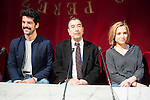 "Miguel Angel Muñoz, Jose Luis Garci and Ana Carlota Fernandez during the presentation of the new production of the Spanish Theater ""Arte Nuevo""  at spanish theater in Madrid, February 16, 2016<br /> (ALTERPHOTOS/BorjaB.Hojas)"