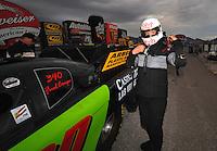 Nov. 1, 2008; Las Vegas, NV, USA: NHRA funny car driver Bob Bode during qualifying for the Las Vegas Nationals at The Strip in Las Vegas. Mandatory Credit: Mark J. Rebilas-