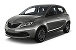 2019 Lancia Ypsilon Gold 5 Door Hatchback Angular Front automotive stock photos of front three quarter view