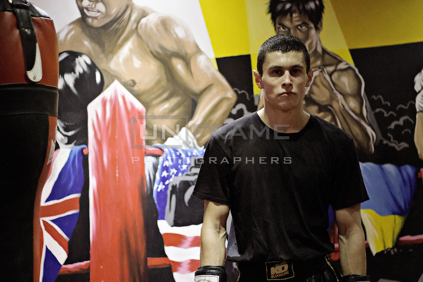 Przemek Kierpacz, a professional Muay Thai boxer and also an advocate for Roma Support Group, maintains that cooperation between Roma and non-Roma people is a must. London, UK, 9th March 2015.