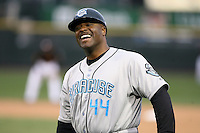 April 11th 2008: Coach Charles Poe of the Syracuse Chiefs, Class-AAA affiliate of the Toronto Blue Jays, during a game at Frontier Field in Rochester, NY.  Photo by Mike Janes/Four Seam Images