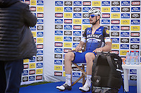 Tom Boonen (BEL/Etixx-QuickStep) loses a historical 5th win in Roubaix by a bike-length to race winner Mathew Hayman (AUS/Orica-GreenEDGE) and thus will be honoured as runner-up for the <br /> 114th Paris-Roubaix (2016).