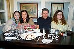 Enjoying the evening in the Brogue Inn on Friday, l to r:  Leah Shanahan, Jo Dillane, Brendan and Naoise Shanahan