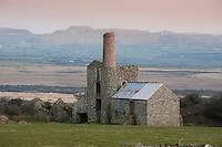 Belowda Hill Tin Mine, Cornwall. Operated 1872 to 1902, re-worked in 1935..A small engine house with boiler house overlooking Goss Moor..The mine's main output was 53Tons of Tin and small quantities of wolfram from the re-working.