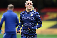 14th March 2021; Vicarage Road, Watford, Herts;  Captain Magdalena Eriksson  16 Chelsea during warm up ahead of the FA Womens Continental Tyres League Cup final game between Bristol City and Chelsea at Vicarage Road Stadium in Watford. FA Womens Continental Tyres Cup Final