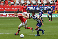 Tom Lockyer of Charlton and Reading's Andy Rinomhota challenge for the ball during Charlton Athletic vs Reading, Sky Bet EFL Championship Football at The Valley on 11th July 2020