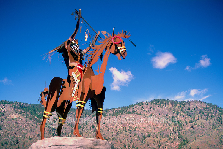 Indian Sculpture at Nk'Mip Desert Cultural Centre, Osoyoos, South Okanagan Valley, BC, British Columbia, Canada